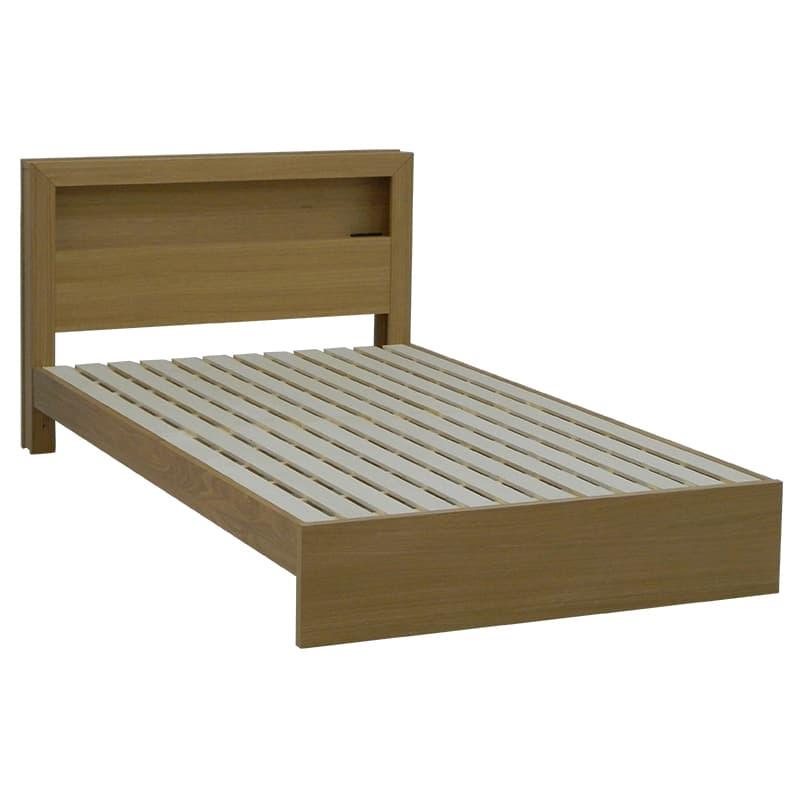 セミダブルフレーム カステロ 宮付引無 NA:◆オーク材の突板を使用した、木目がおしゃれなベッドフレームです。