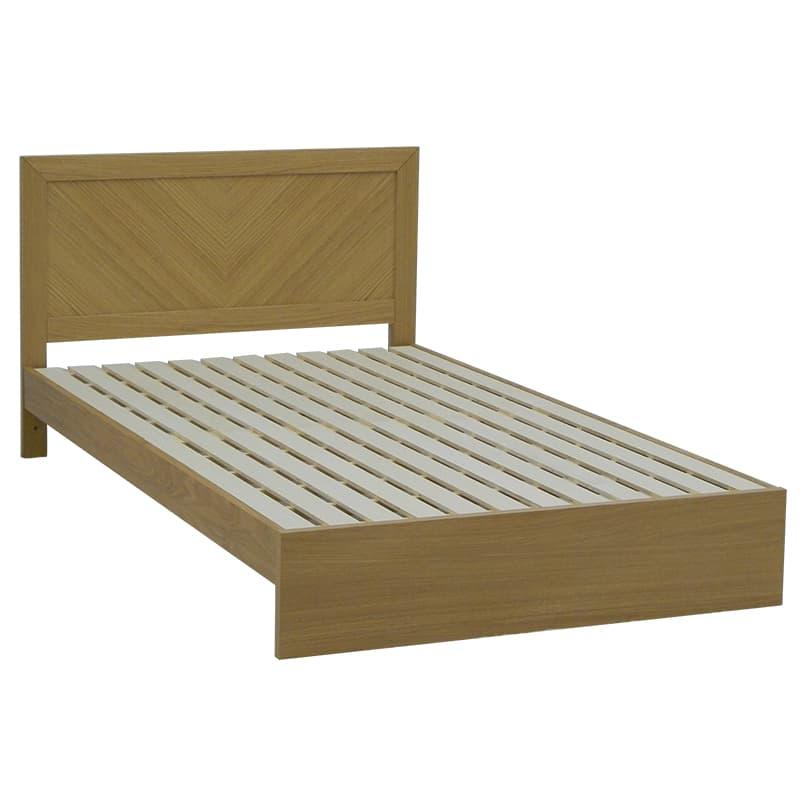 セミダブルフレーム カステロ フラット引無 NA:◆オーク材の突板を使用した、木目がおしゃれなベッドフレームです。