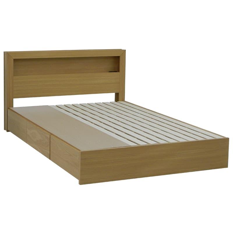 ダブルフレーム カステロ 宮付引付 NA:◆オーク材の突板を使用した、木目がおしゃれなベッドフレームです。