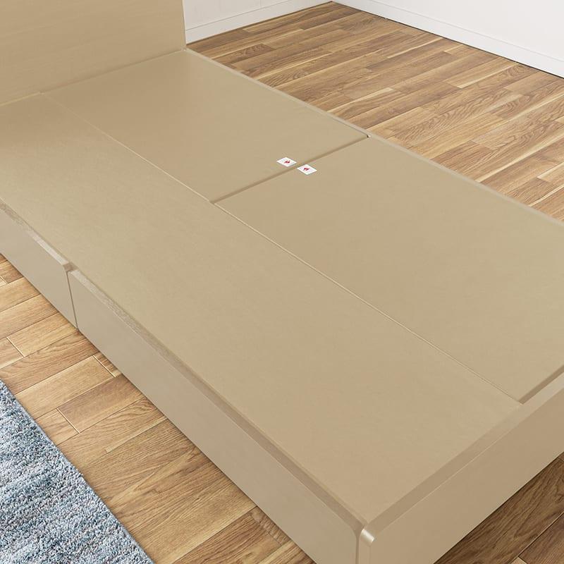 シングルベッド KK024�U DR210 2杯引 DBR(ダークブラウン)/OU-15S:床板仕様orすのこ仕様