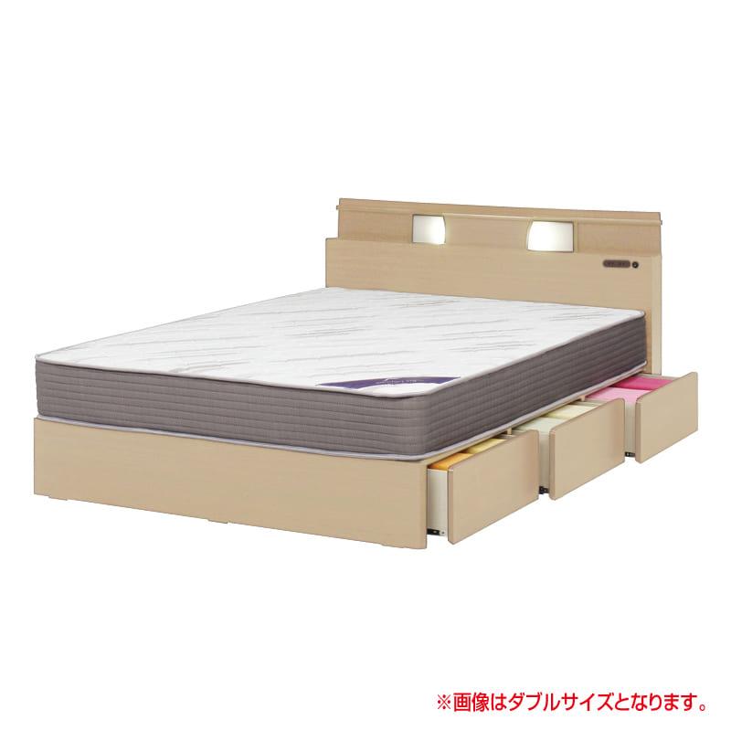 シングルベッド KK032 DR250 3杯引 NA/OU-15S(ナチュラルオーク):◆どんな空間にもしっくりと馴染む、ベーシックなデザインが魅力。