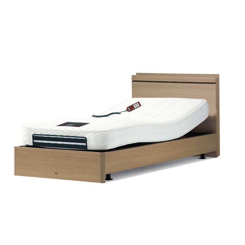 セミダブルベッド シエラスリムシェルフ電動/AA16322 5.5R(ナチュラル):◆人気のシモンズベッドフレーム「シエラ」から、電動ベッドが登場。