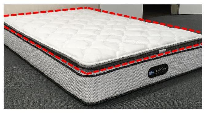 マットレストッパー ダブル:《ユーロトップのような寝心地へ》※写真は【セミダブルサイズ】です