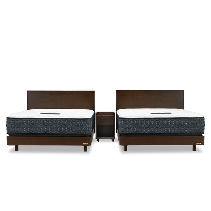 セミダブルツインベッド PR70−07F/DDEX ウォールナット:◆人気のフランスベッド70周年記念モデルです※ナイトテーブルはイメージです。