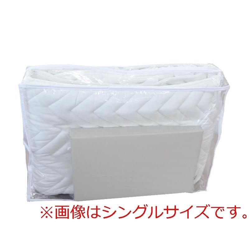 【寝装品2点セット】セミダブル(ベッドパッド、ボックスシーツ)GY(グレー):セミダブル(SD)サイズ 寝装品2点セット(ベッドパッド、ボックスシーツ)