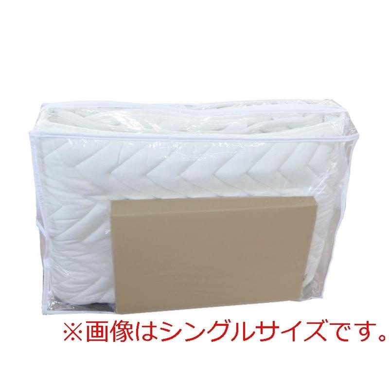 【寝装品2点セット】ダブル(ベッドパッド、ボックスシーツ)BE(ベージュ):ダブル(D)サイズ 寝装品2点セット(ベッドパッド、ボックスシーツ)