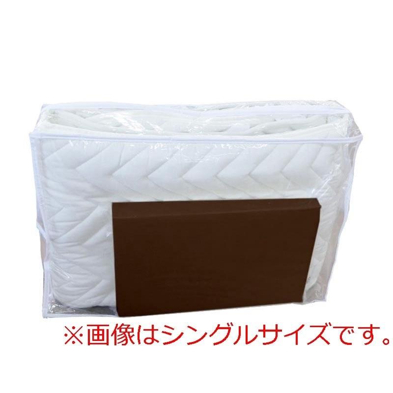 【寝装品2点セット】ダブル(ベッドパッド、ボックスシーツ)BR(ブラウン):ダブル(D)サイズ 寝装品2点セット(ベッドパッド、ボックスシーツ)