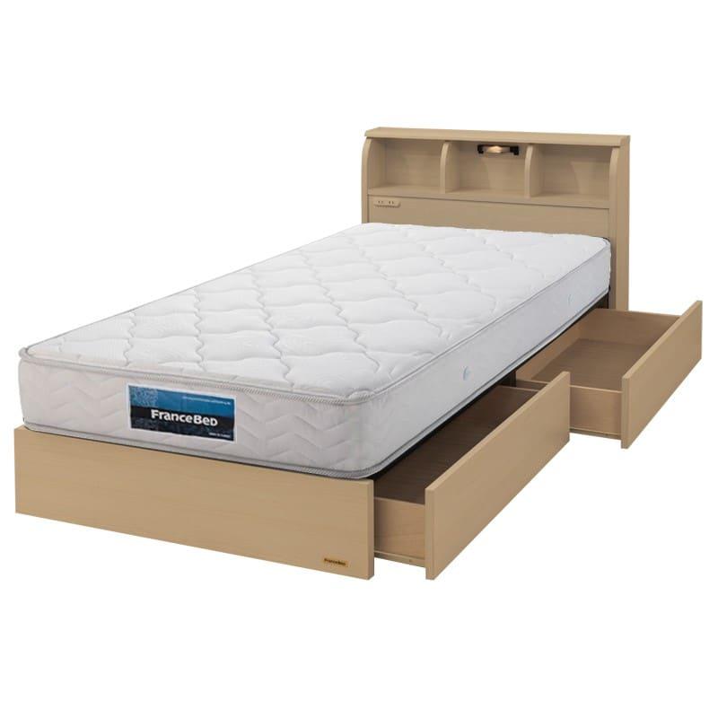 フランスベッド シングルベッド コスモプラス/BO−030 ホワイトオーク