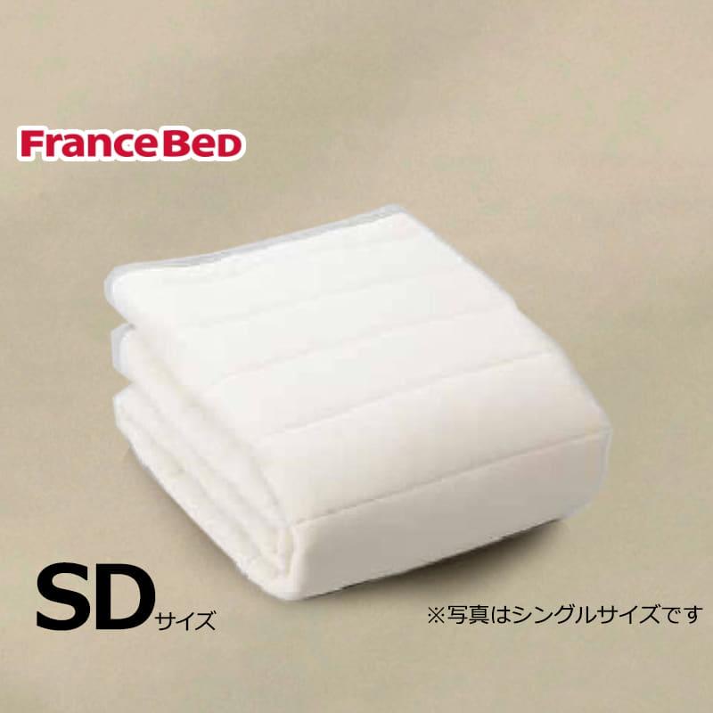 寝装品3点パック ウールブレンドSTD3点 M ベージュ:リバーシブル使用のベッドパット