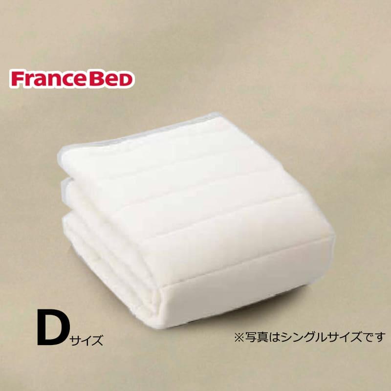 寝装品3点パック ウールブレンドSTD3点 D ベージュ:リバーシブル使用のベッドパット