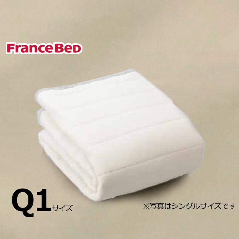 寝装品3点パック ウールブレンドSTD3点 Q1 ベージュ:リバーシブル使用のベッドパット