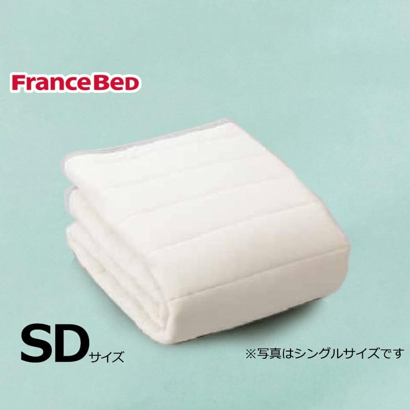 寝装品3点パック ウールブレンドSTD3点 M ブルー:リバーシブル使用のベッドパット