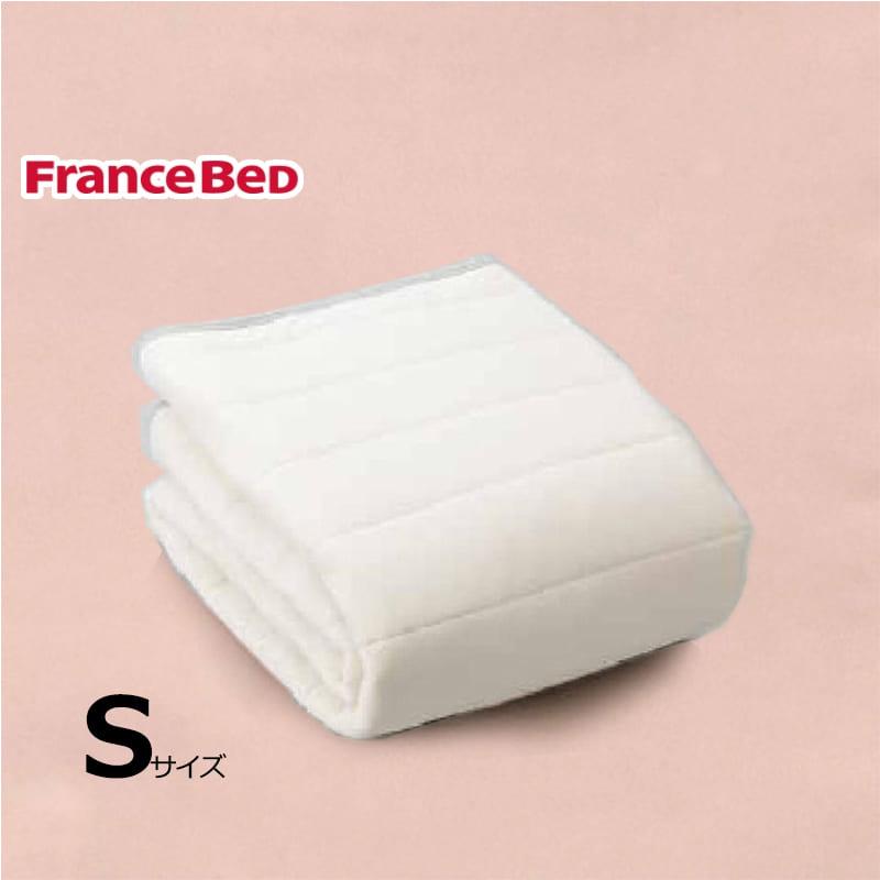 寝装品3点パック ウールブレンドSTD3点 S ピンク:リバーシブル使用のベッドパット
