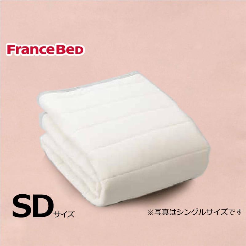 寝装品3点パック ウールブレンドSTD3点 M ピンク:リバーシブル使用のベッドパット