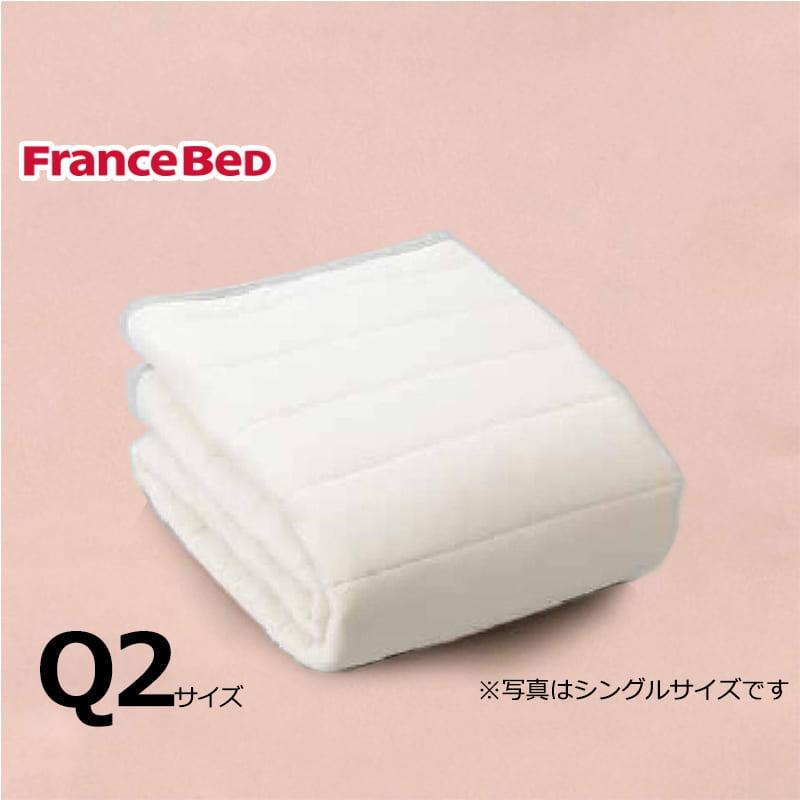 寝装品3点パック ウールブレンドSTD3点 Q2 ピンク:リバーシブル使用のベッドパット