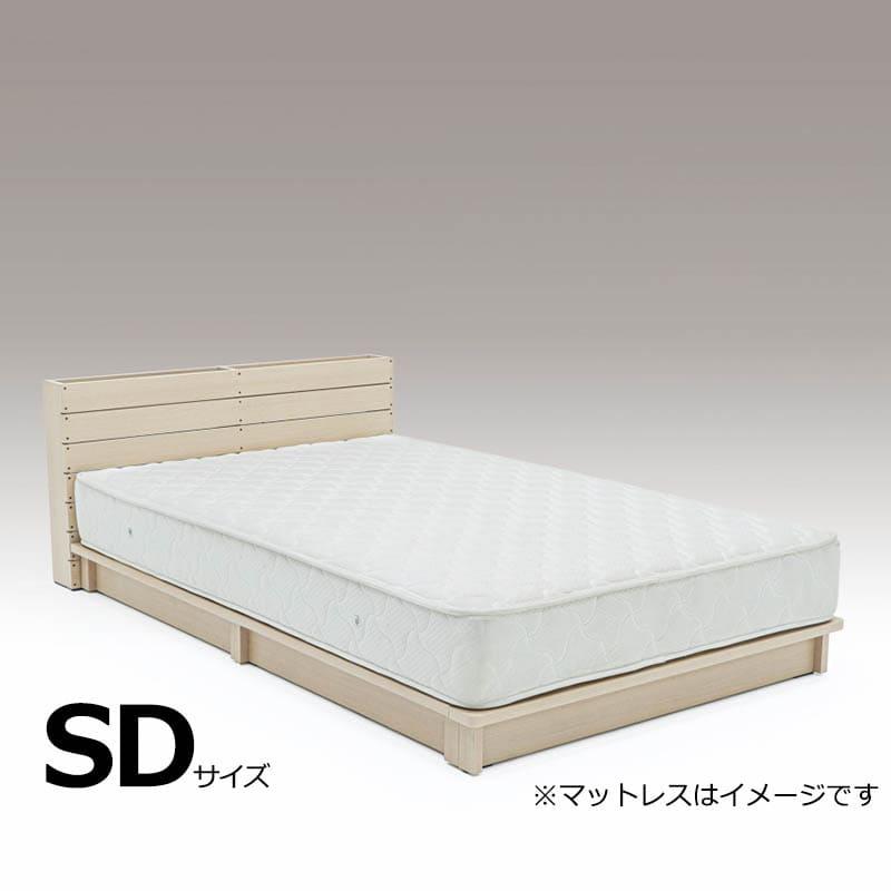 セミダブルフレーム パレット L−OAK ※マットレス別売※:DIYで人気のパレットをイメージしたデザインのベッドフレームです。