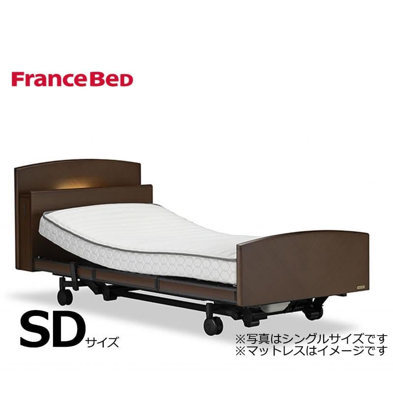 電動セミダブルフレームGX−P303C 2モーター・ワイヤレス・キャスター(スタンダードアンバー)※マットレスは別売りです:◆お客様の身体状況に応じて4モーターから69モーターまで選択可能