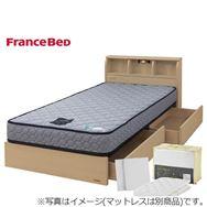 フランスベッド シングルベッド寝装品付き コスモプラス/ZTゼウス(ホワイトオーク)/スリープセット(ホワイト)