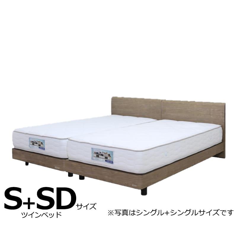ツインベッド ギャラクシーFLG(フラット)+ブルーハードS+SD:日本製Fフォースター(F★★★★)モデルです。