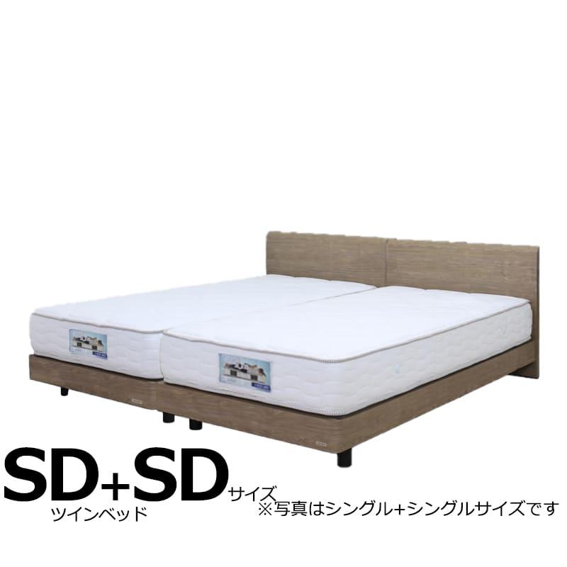ツインベッド ギャラクシーFLG(フラット)+ブルーハードSD+SD:日本製Fフォースター(F★★★★)モデルです。