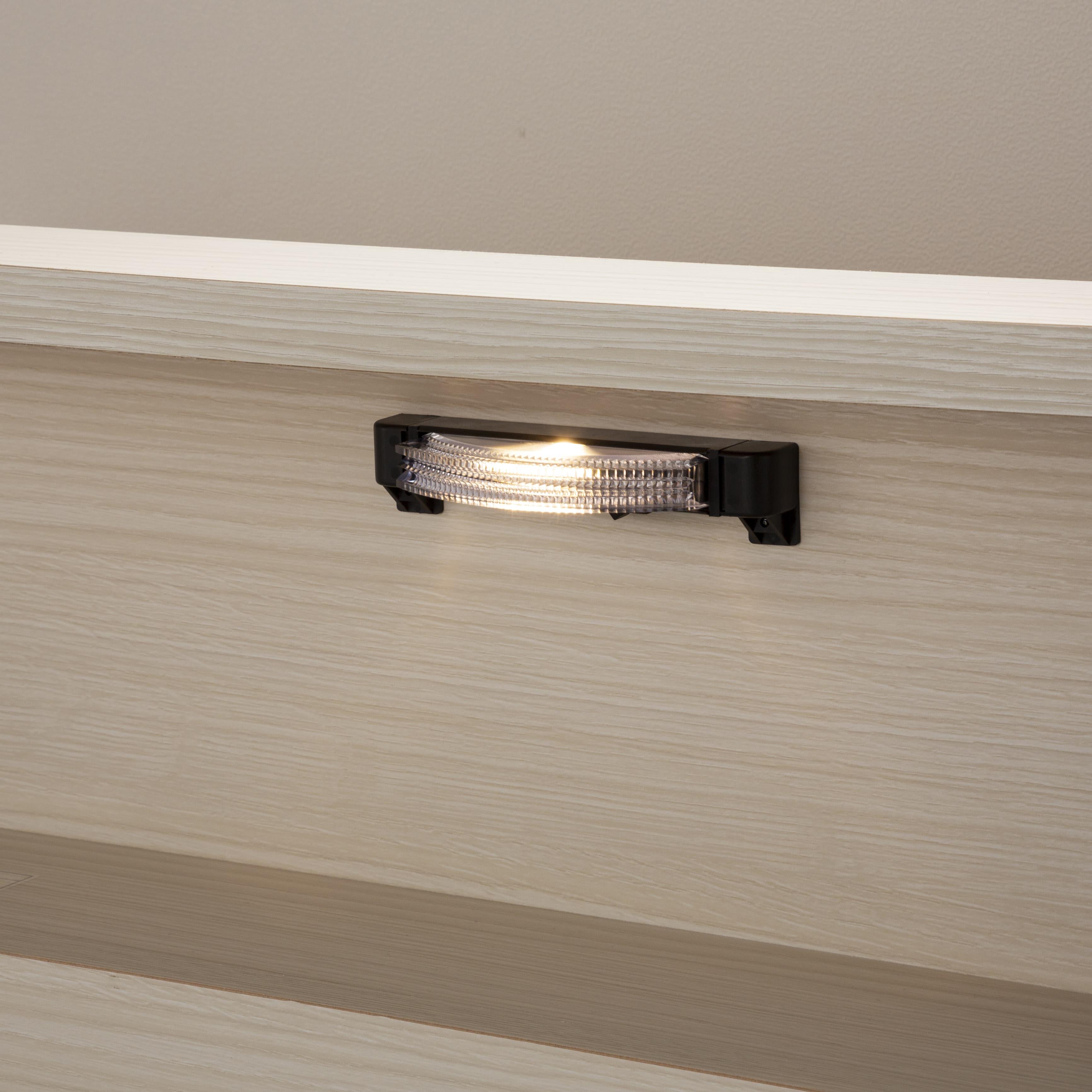 シングルベッド コスモプラス�U/BO−030 ウォールナット:LEDライト付き