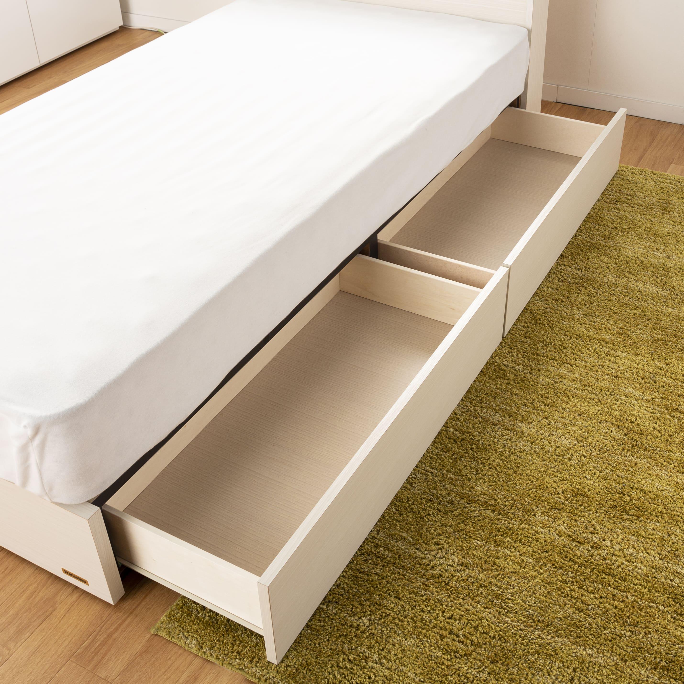シングルベッド コスモプラス�U/BO−030 ウォールナット:衣類の収納に大活躍★