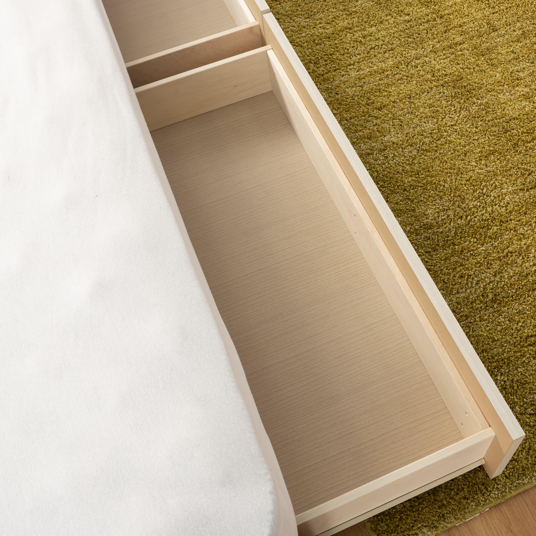 シングルベッド コスモプラス�U/BO−030 ウォールナット:箱組み構造