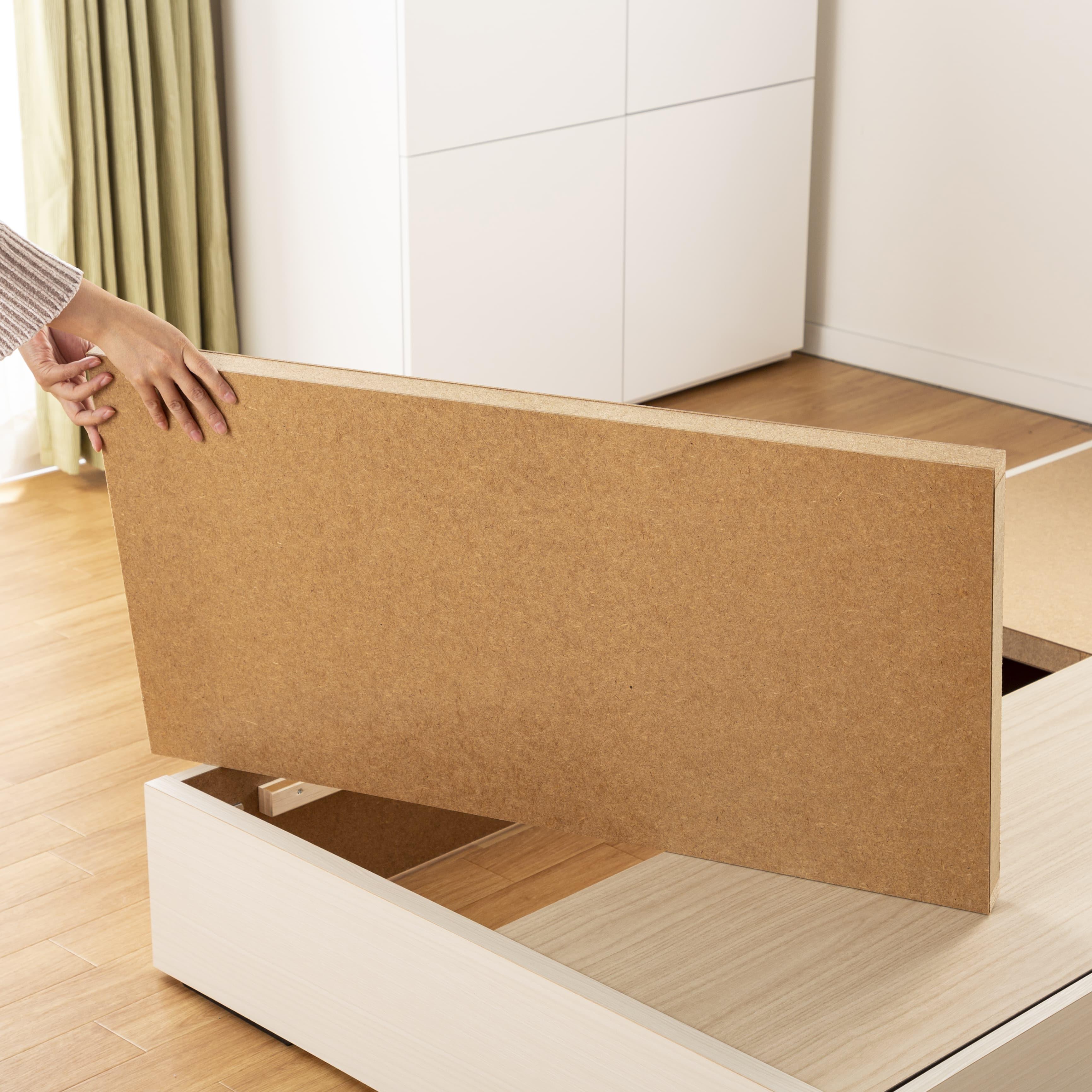 シングルベッド コスモプラス�U/BO−030 ウォールナット:しっかり安定感のある床板