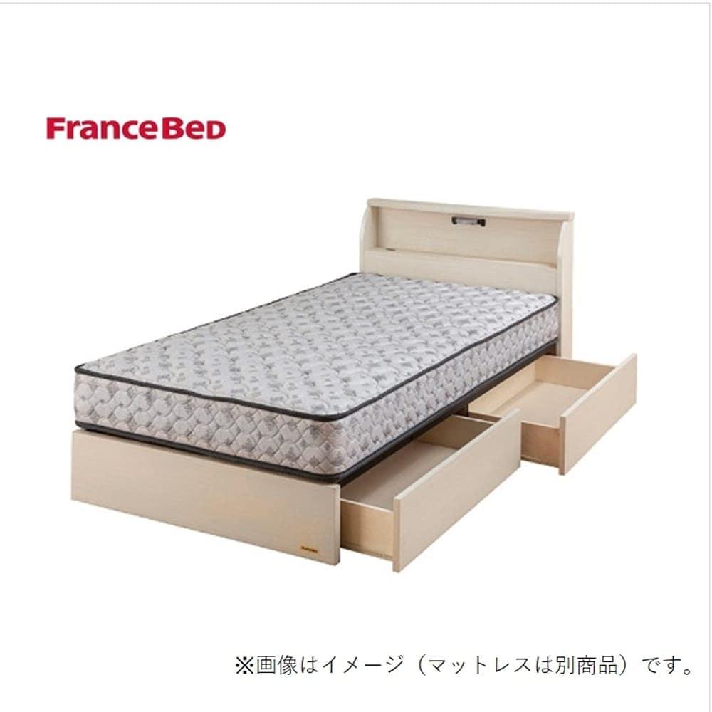 シングルベッド コスモプラス�U/シルバー800FT2 ホワイト:国産、キャビネット、引出し付ベッド