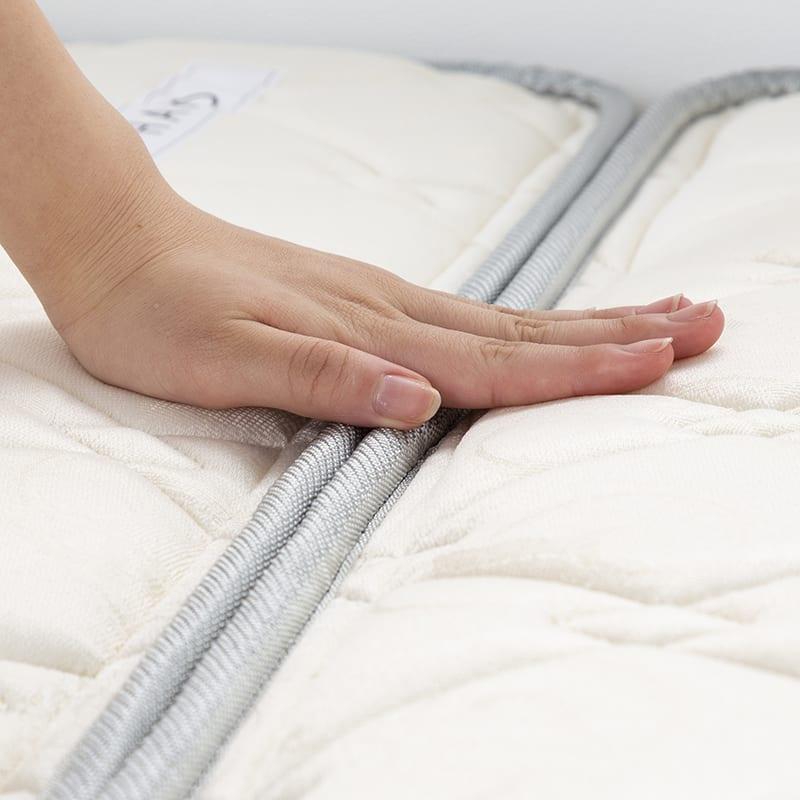 シングルマットレス シングルマットレス ONE TWO SLEEP 002(HHH)スタンダード:つなぎ目をずらして、快適寝心地!