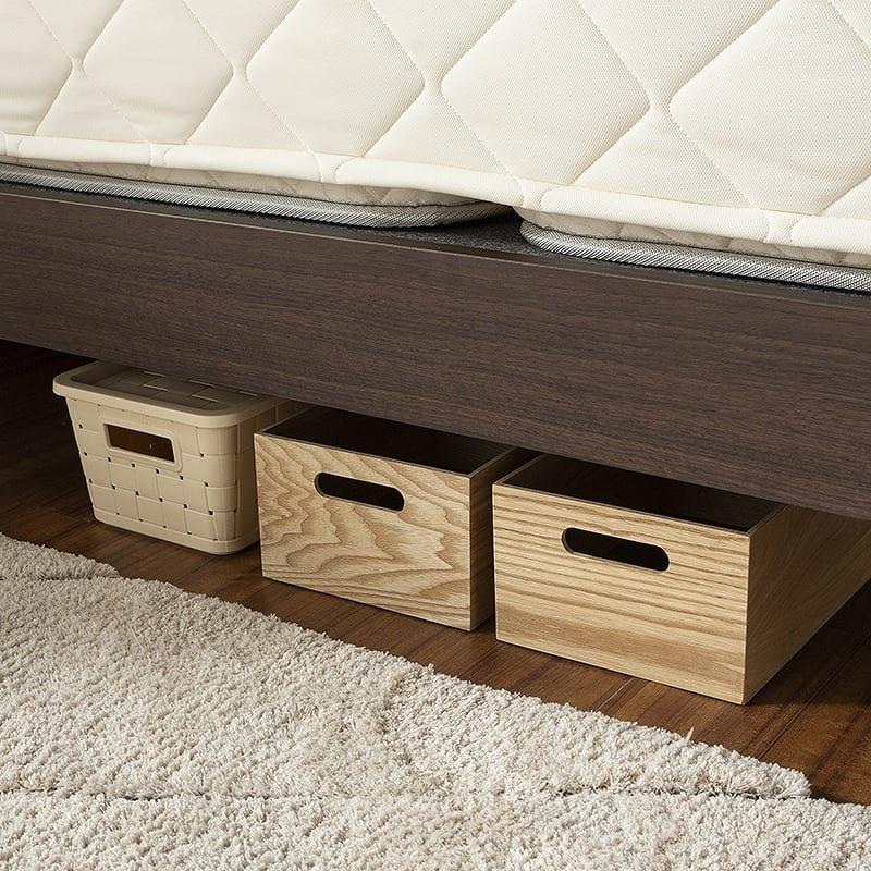 :ベッド下スペースは有効活用OK♪(画像は29.5cm高です)
