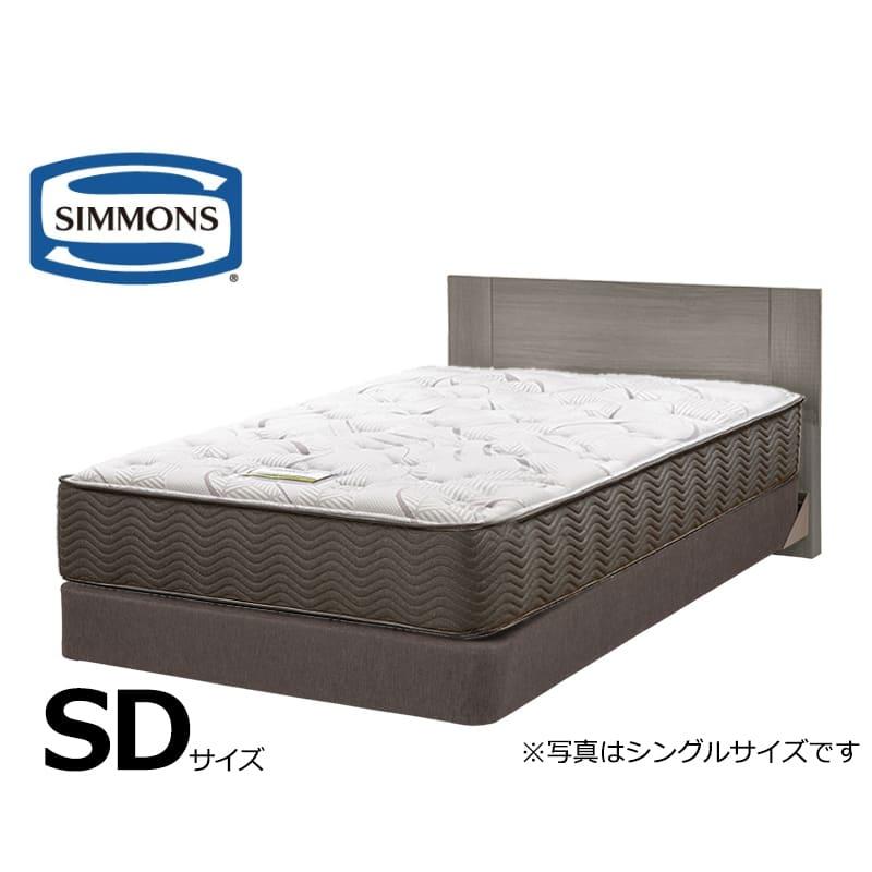シモンズ セミダブルベッド ジェシルDC+7.5インチエグゼクティブMD ミディアム:ホテルスタイルのスクエアなヘッドボードデザインです。