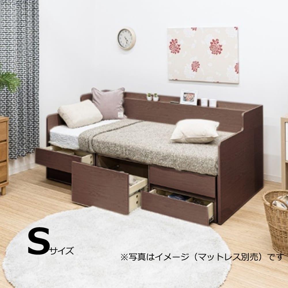 チェストベッドフレーム ウィズ チェスト WNT:ソファとベッドの1台2役のベッドフレーム!