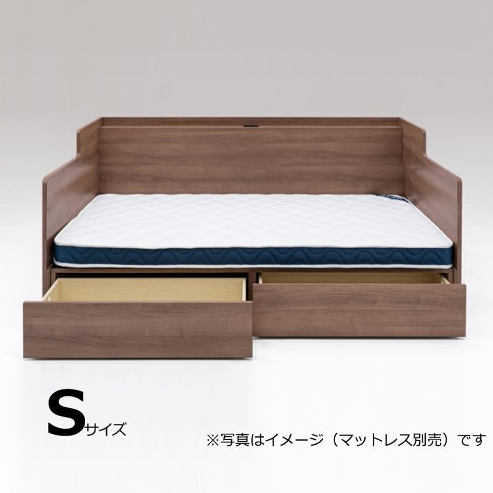 シングルベッドフレーム ウィズ DR WNT:ソファとベッドの1台2役のベッドフレーム!