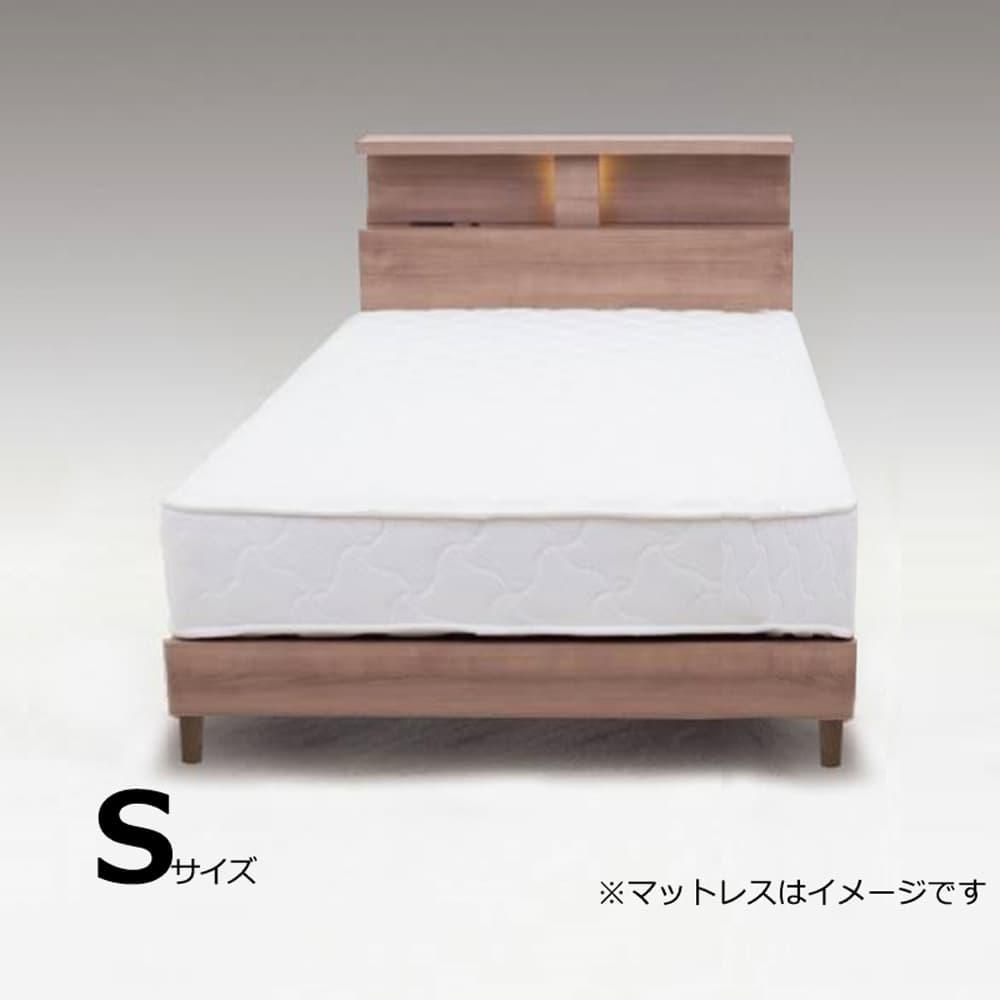 シングルフレーム N−バンカーLEG2 WNT:やさしい木目柄がきれいなベッドフレーム