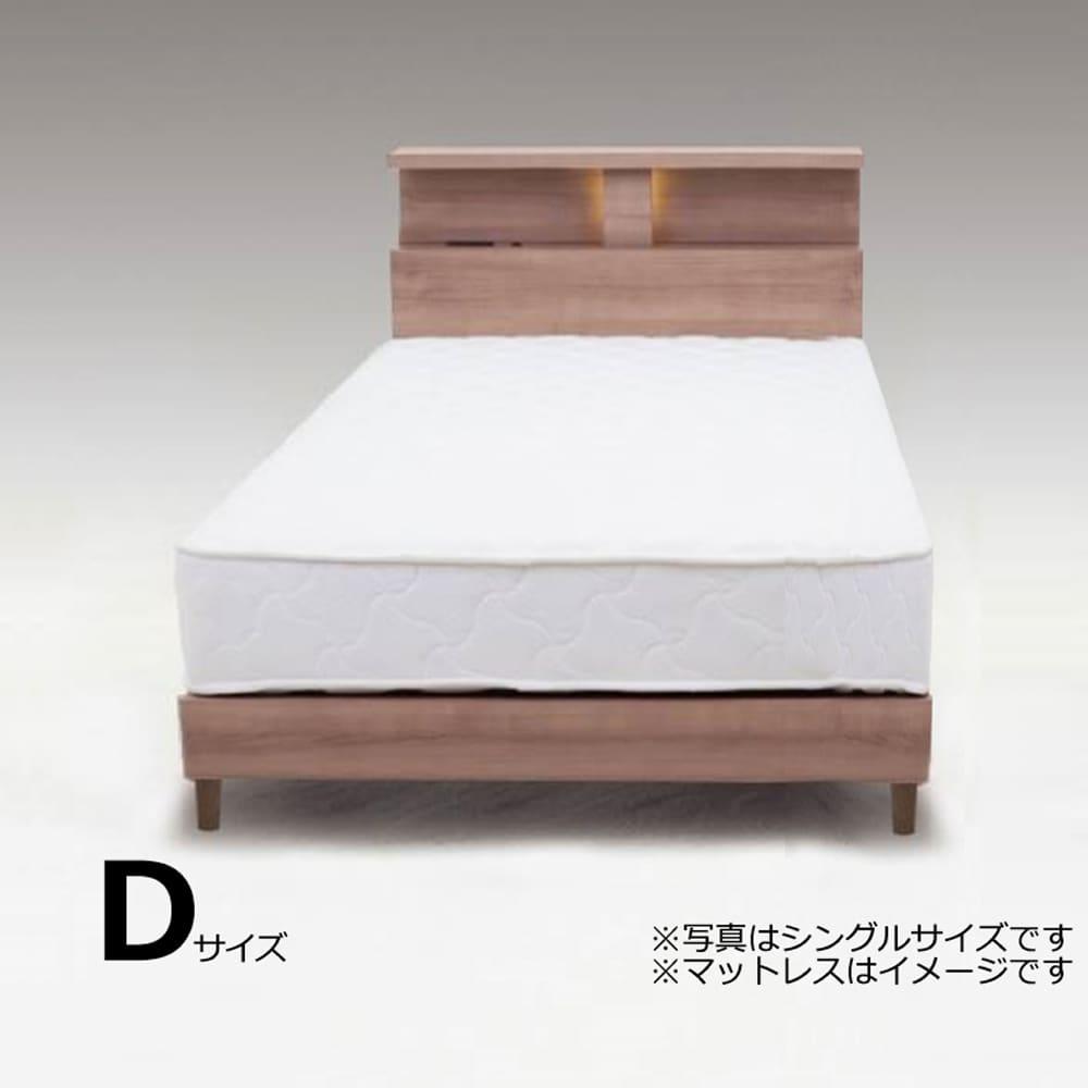 ダブルフレーム N−バンカーLEG2 WNT:やさしい木目柄がきれいなベッドフレーム