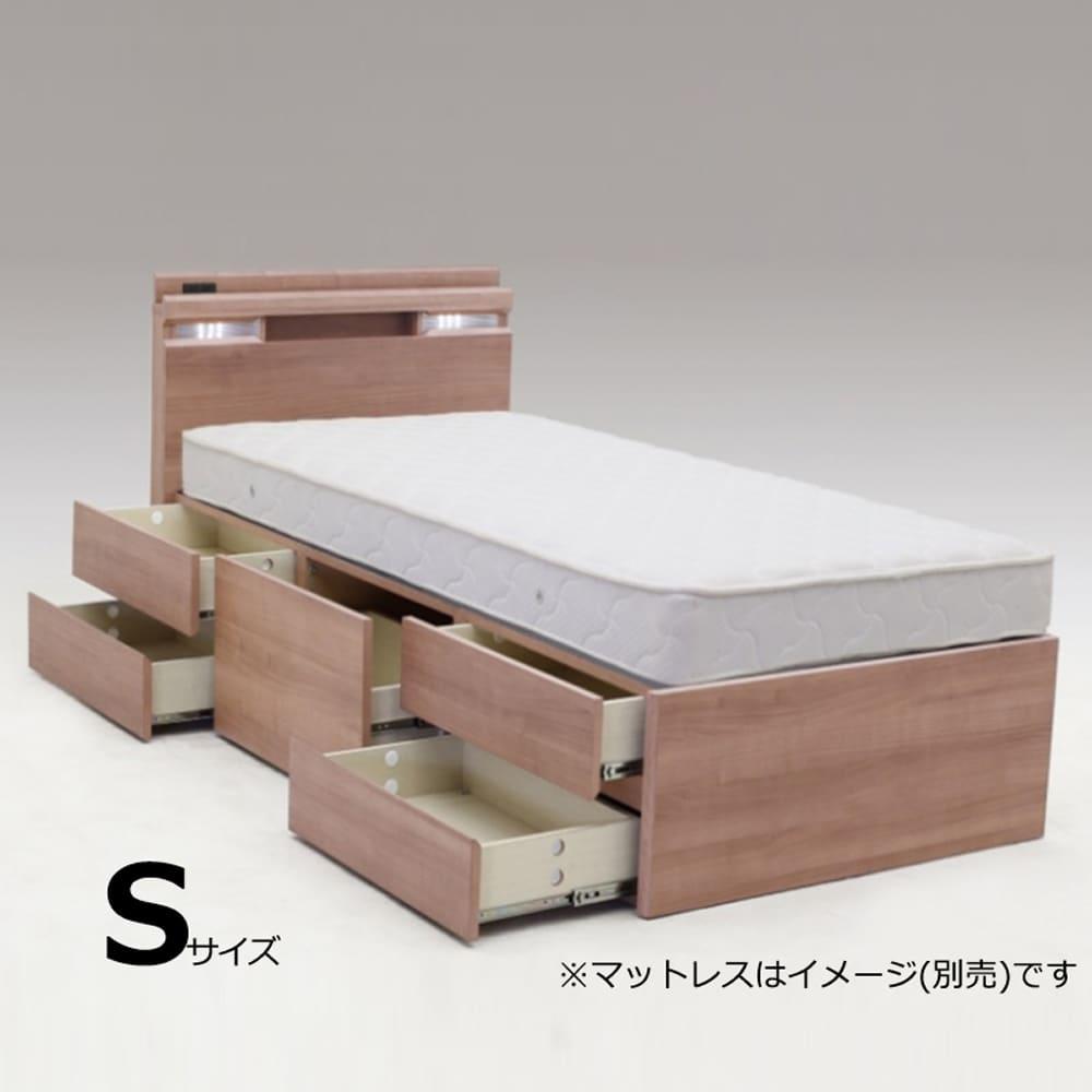 チェストベッド N−ジャックWNT:ベッド下の大容量引き出しが便利な機能的ベッド