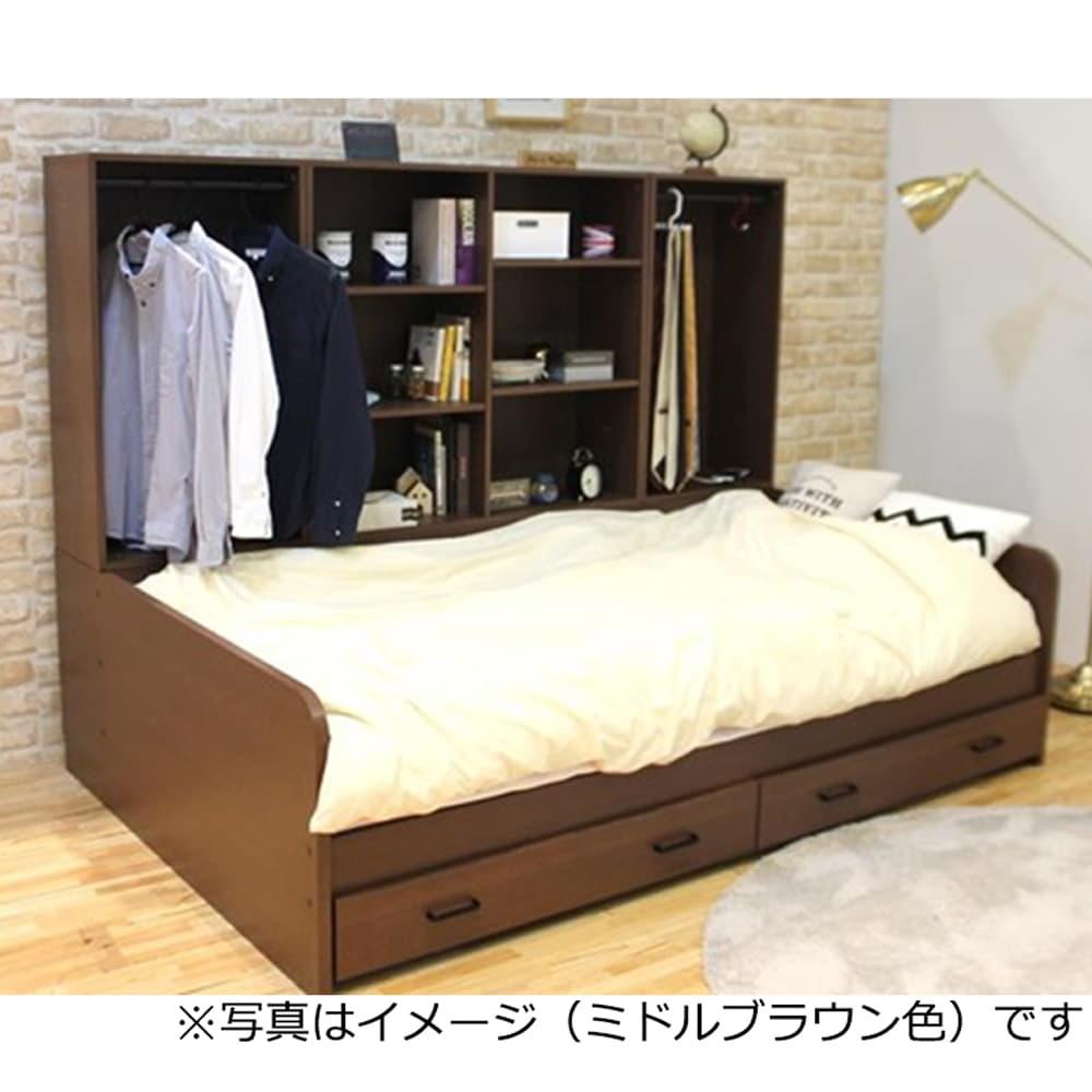 :ベッド下に引き出しを付ければさらに収納力UP!