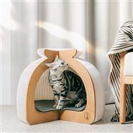 【ネット限定】猫ハウス ペーパー WH