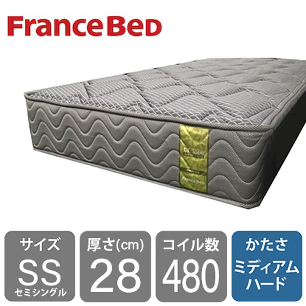 フランスベッド セミシングルマットレス LT−5500S PW ハード:高密度スプリングに羊毛綿を入れて通気性抜群