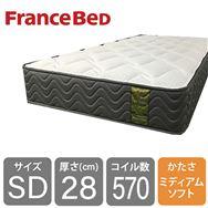 フランスベッド セミフランスベッド ダブルマットレス LT−5500S PW ミディアムソフト