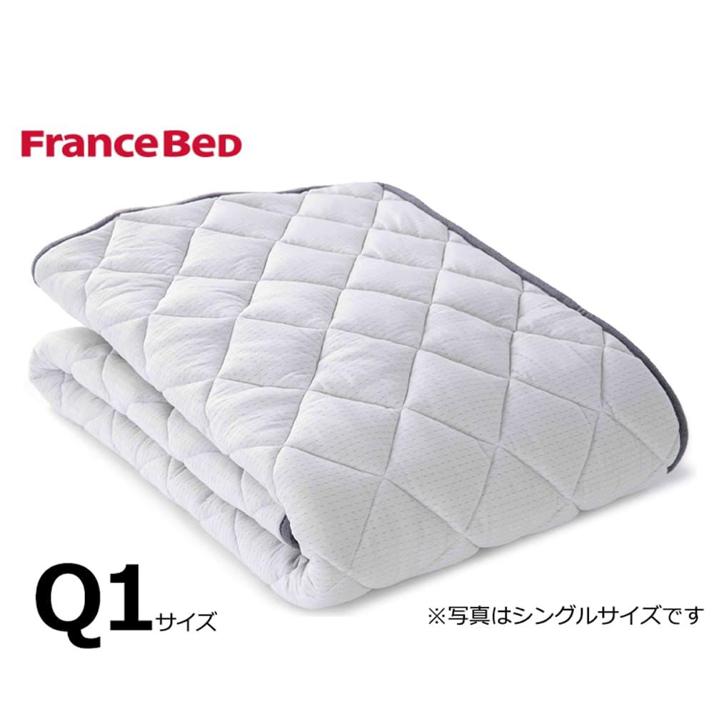 クィーン1ベッドパッド LTフィット羊毛ベッドパッド ミディアムソフト:ご家庭の洗濯機で洗えます