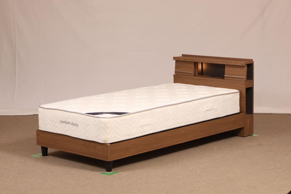シングルフレーム NS−001 ST:間接照明でモダンな印象を与えるヘッドボードデザイン