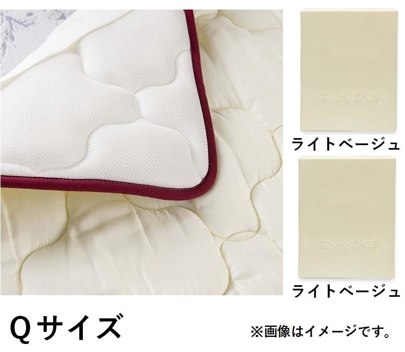 寝装品3点パック ウェルネスリープラグジュアリー3点(35厚) Q ライトベージュ/ライトベージュ