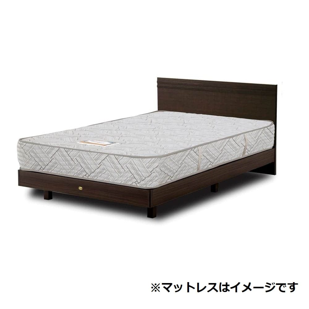 【ネット限定】ダブルベッド クルス�UフラットDR桐床板/5.5インチAB18001:マットレスは感触の良いニット生地採用(シモンズベッド)
