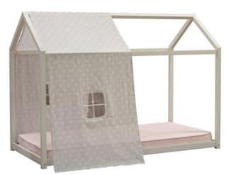 【ネット限定】ハウスベッド RFB−010 WH:通気性の良いすのこの床板を採用しています。
