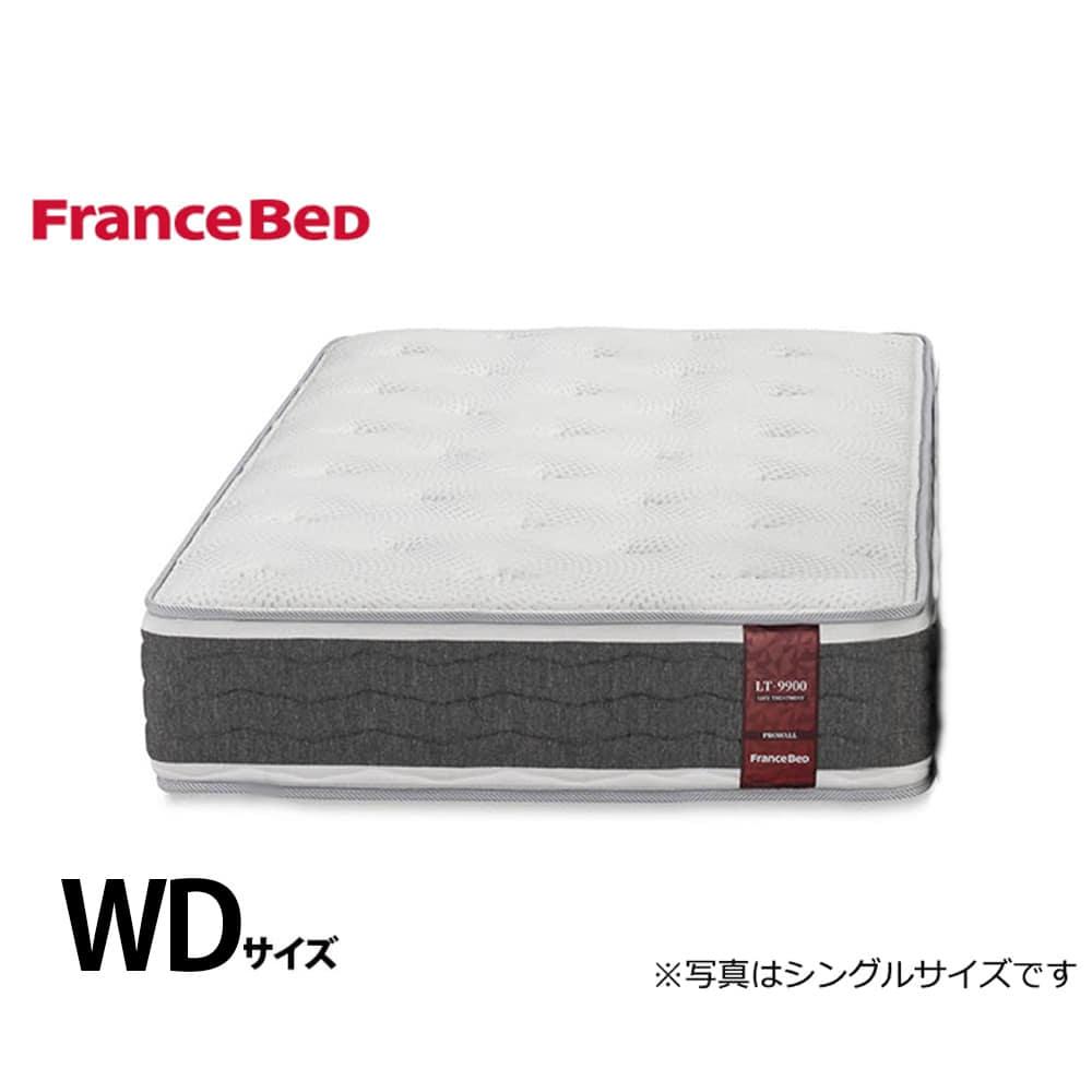 フランスベッド クィーン1マットレス LT−9900PW ミディアムソフト:側地に銀イオンによる除菌機能付き。