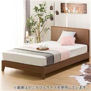 【ニトリ】 シングルフレーム メリッサ3−S(すのこ床板) H85 MBR LEG ミドルブラウン ※マットレス別売※