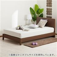 【ニトリ】 ダブルフレーム メリッサ3−S(すのこ床板) H85 DBR LEG ダークブラウン ※マットレス別売※