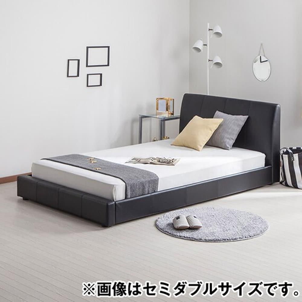 【ニトリ】 クイーンベッドフレーム バッソ BK ブラック:ロータイプのシンプルなベッドフレーム